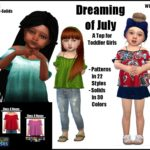 Dreaming of July -A Top for Toddler Girls