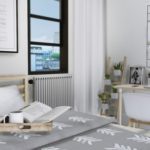 MXIMS – Thorne Bedroom IKEA Tarva Bed IKEA Hilver Desk …