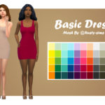 a-sip-of-sims Basic Dress Recolour