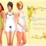 August Romper Recolors: