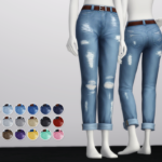 Rusty's — Cropped Roll-up Jeans