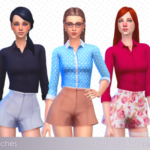 ☂ Babubii – Pinny House ☂ — Office lady remake (2017) Crop shirt and short…