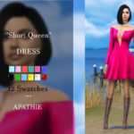 Short Queen DRESS