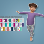 Mama Bear's Sims Little Girl's Pajama Set