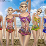 MadameChvlr's Arabesque Beauty Swimwear