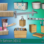 "Corporation ""SimsStroy"": The Sims 4. Decor for Bathroom IKEA 02."