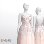 Rusty's — Soft-Pink Embellished tulle Gown