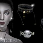 ASSADIA Choker sims 4. pour elle. En noir et or,… – jomsimscreations.fr