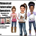 Whimsical Watercolor Sweaters -For Toddlers- | GO… – Sims 4 Nexus