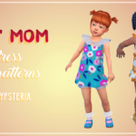 Sims, spice and everything nice | But Mom – recolors of a dress in 15 patterns It's…