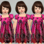 lillka's Fuchsia Black Floral Dress