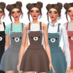 Wicked_Kittie's Kawaii Bear Overalls – Mesh Needed