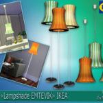 """Lamps """"Lampshade EMTEVIK"""" IKEA."""