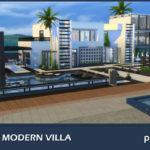 Phenix Modern Villa. Sims 4 Custom Content.