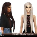 Shimydim Sims: S4 ShimydimSimss Miraka Hair – Naturals + Unnaturals