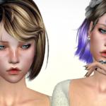 Jennisims: Downloads sims 4:Newsea SweetScar Hair retexture