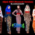 RMV ( Re-Mesh Version ) Hijab Model010-014