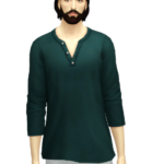 Rusty's — Half Sleeve Henley-Neck T-shirt