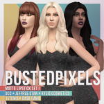 BustedPixels | Matte Lipstick Set I Base Game Non Default Base…