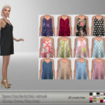 Spectacledchic-sims4 Strap Dress Recolor It's a… – E L F D O R