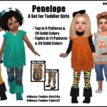 sims4nexus Penelope -A Set for Toddler Girls-