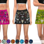 ekinege's Embroidered Mini Skirt