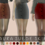 cosimetics' Laura suede skirt