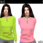 simtographies' Female Basic Shirt 02