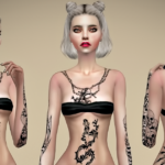 Jennisims: Downloads sims 4:CollectionTattoos Shadow Moon