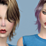 Jennisims: Downloads sims 4: Newsea Unchained Hair retexture Male /Female