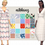 NIBBSNZ – A Rusty Wrap Dress 25 recolours of Rusty's wrap…
