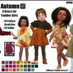 Autumn -A Dress for Toddler Girls- | GO TO… – Sims 4 Nexus