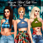 Astya96 – Black Effy Cross Halter Top Conversion by Astya96…