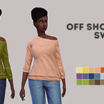 Base Game Off Shoulder Sweater.