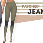 Patched Knee Jeans | sims 4