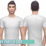 BustedPixels | SP01 Med Wavy  Parted Male Hair Edit Base Game…