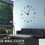 — Large wall clock for The Sims 4