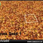 Blackys Sims 4 Zoo – dead leaves terrain paint by sylvia60. Details…