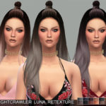 Pinkzombiecupcakes' PZC_Retexture Nightcrawler Luna Hair(MESH REQUIRED)