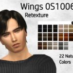 Codia's Wings Hair OS1006 Retexture – Mesh needed