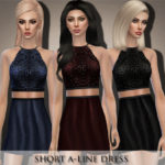 Black Lily's Short A-Line Dress