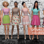 strenee sims: Get Together Sun Stripe – Fun With Polka Dots