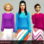 strenee sims: Colorful Cableknits