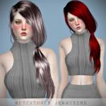 Jennisims: Downloads sims 4:Newsea TellMe Hair retexture