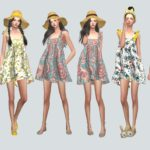 Frill Babydoll Dress V2.Pattern_ Frilly baby stone dress pattern version_Girl costume – SIMS4 marigold
