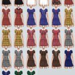 JJ Dress With Ribbon_JJ 원피스 리본 버전_여자 의상 – SIMS4 marigold