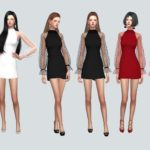 See-Through Lovely Dress_Special Lovely Dress _ Women's Costumes – SIMS4 marigold