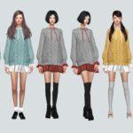 Frill Sweater Dress_프릴 스웨터 드레스_여자 의상 – SIMS4 marigold