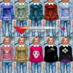 Jennisims: Downloads sims 4: Frozen Sweater and Stockings(Base Game compatible)