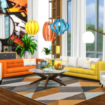 Peace's Place Atwood Living Redux – Lounge Set for The Sims 4